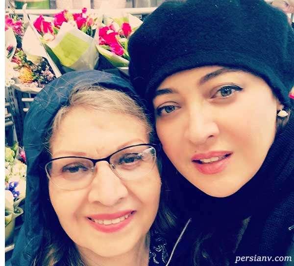 چهره نیکی کریمی در کنار مادرش