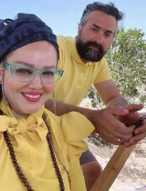 تیپ جدید بهاره رهنما و همسرش
