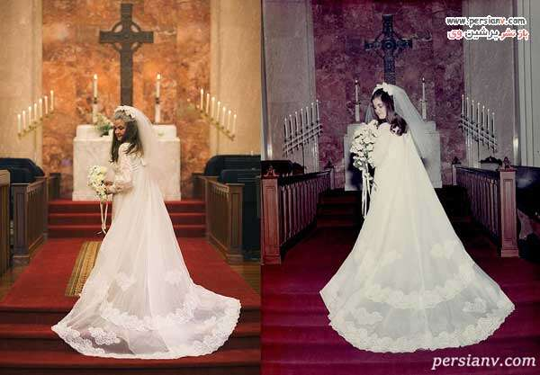 لباس عروس کارولین