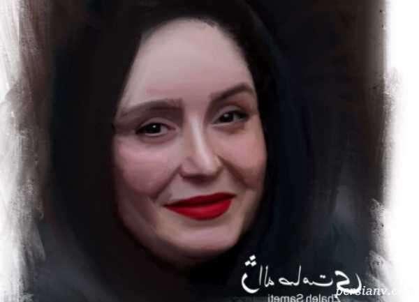 طراحی چهره ژاله صامتی