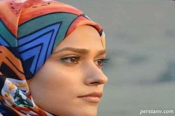 چهره بدون گریم آدرینا صادقی بازیگر نقش مائده در سریال احضار