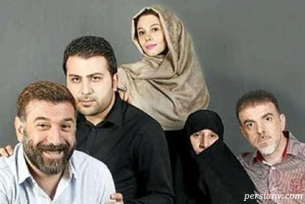 خواهر علی انصاریان و همسرش بر مزار برادر مرحومش