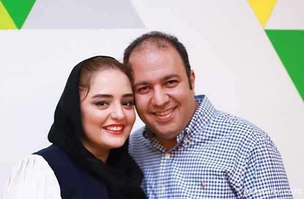 علی اوجی و مادر زنش در رستوران مشغول غذا خوردن