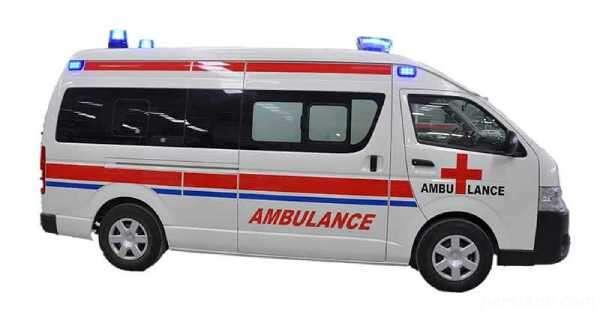 آتش گرفتن آمبولانس