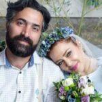 عکس جالب امیرخسرو عباسی و همسرش بهاره رهنما روی ریل قطار