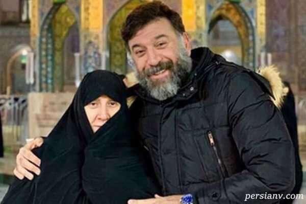 آخرین تصویر از علی انصاریان و مادرش در پشت صحنه سریال سرزده