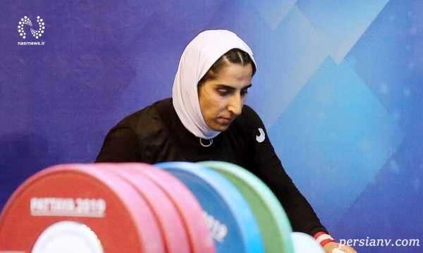 شکسته شدن رکورد وزنهبرداری توسط سیده الهام حسینی بانوی ایرانی