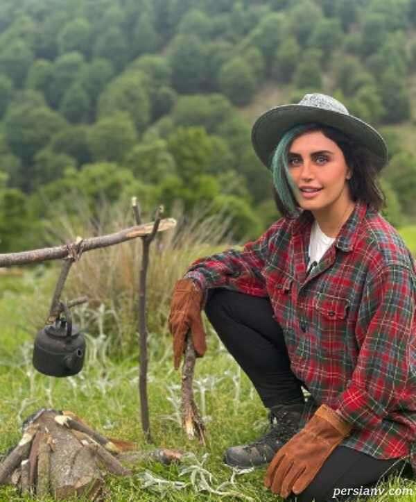 بازیگر معروف در کوهستان
