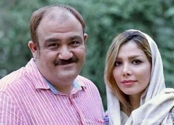 عکس خانوادگی مهران غفوریان با دختر و همسرش در یک رستوران
