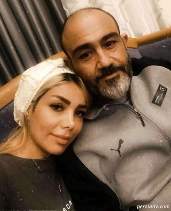 عکس مهران غفوریان با همسر