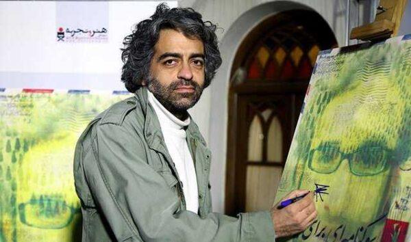 یادبود هنرجویان مرحوم بابک خرمدین برای او در اکباتان تهران