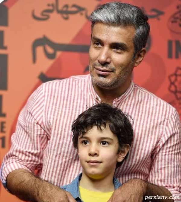 عکس آریا عظیمی نژاد و پسرش