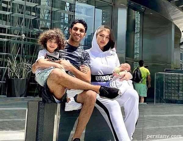 سپهر حیدری با همسر