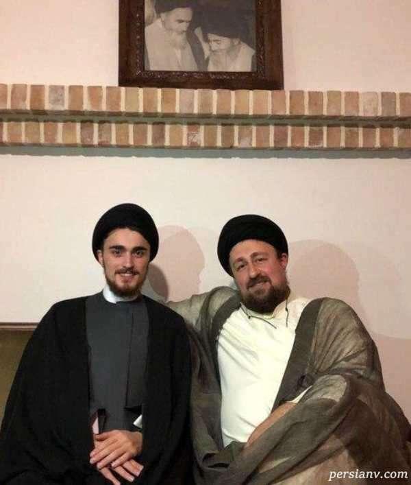 سید حسن خمینی و پسرش