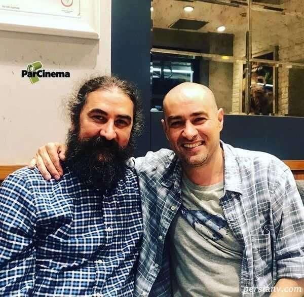 شهاب حسینی با موهای تراشیده