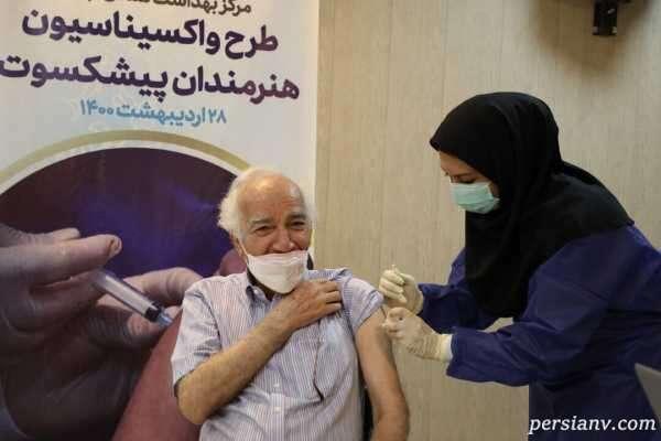 واکسیناسیون هنرمندان پیشکسوت ؛ از بیژن بنفشه خواه تا محمد گلریز