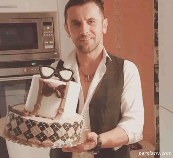 کیک تولد امین حیایی