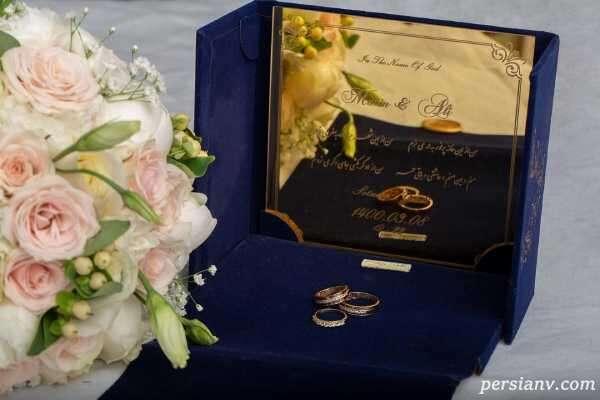 عکس ازدواج متین ستوده با علی زندی و حلقه ازدواجشان