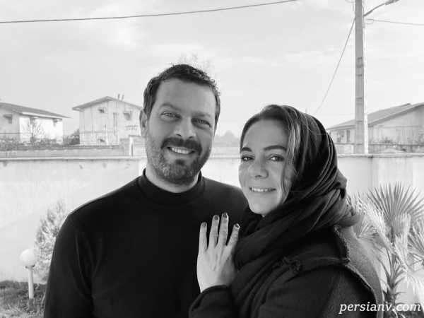 مستانه مهاجر و همسرش