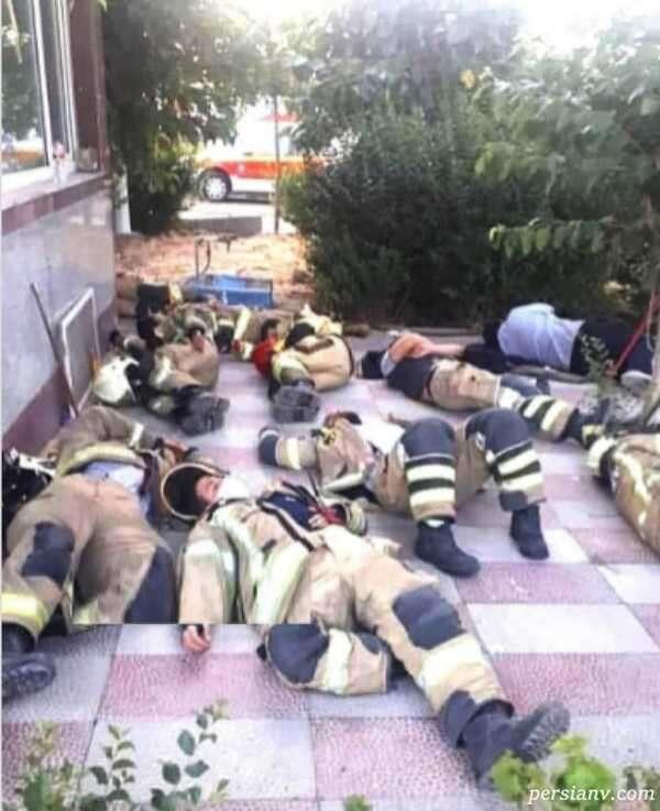 عکس آتش نشانان