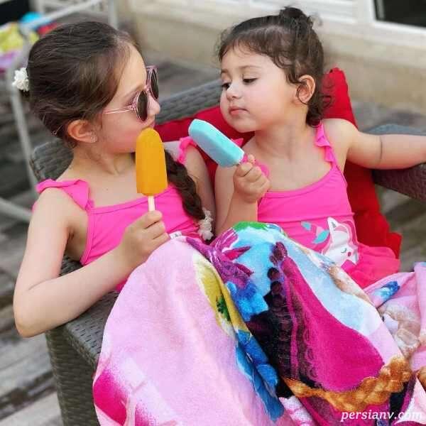 لباس دختران شاهرخ استخری