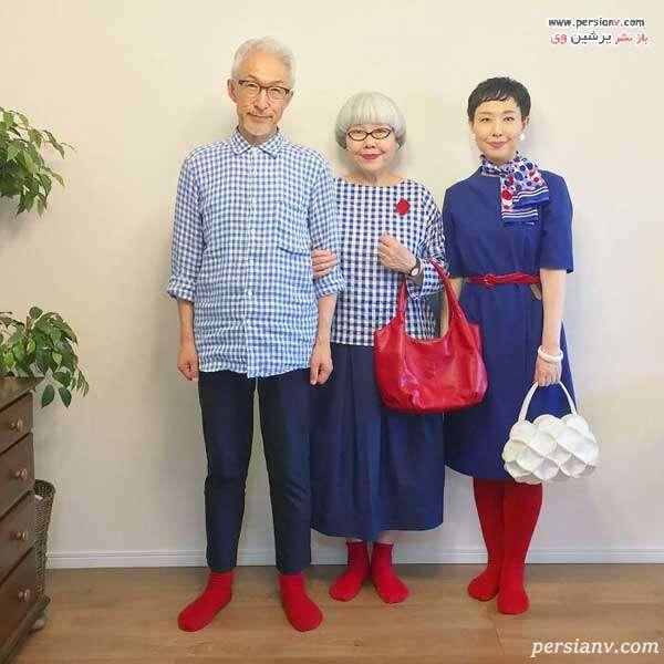 زوج ژاپنی و دخترشان