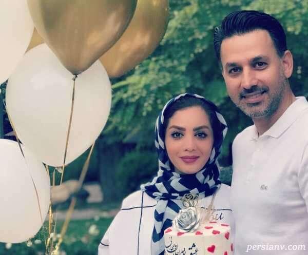 عکس جدید مبینا نصیری مجری تلویزیون با ژست چای ریزان برای همسر جان