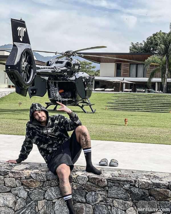 هلیکوپتر و ویلای لاکچری نیمار