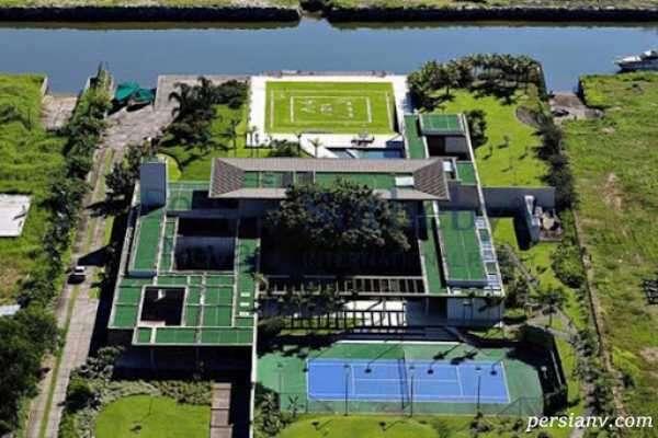 تصویری از ویلای نیمار در برزیل