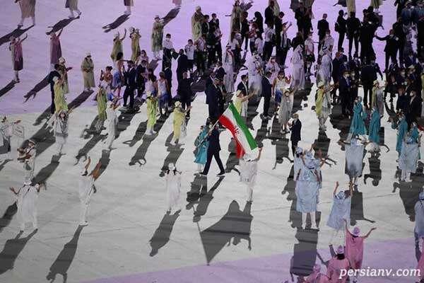 رژه کاروان ایران در المپیک