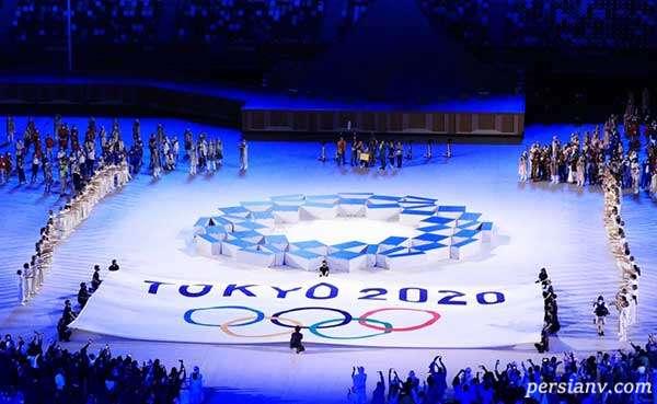 مراسم افتتاحیه المپیک و رژه ایران در آن با لباس رسمی