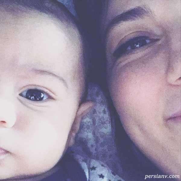عکس همسر و فرزند حدیث میرامینی