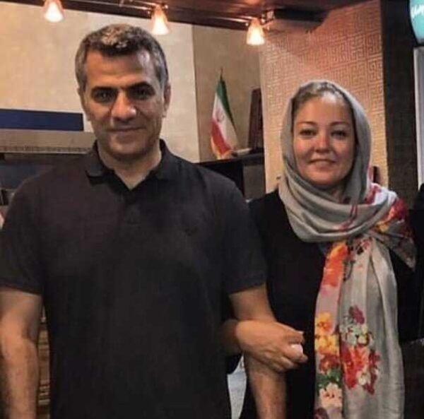 رزیتا غفاری و همسرش