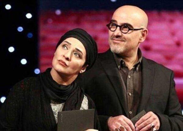 رویا نونهالی و همسرش