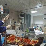 عکسی فاجعه بار از بیمارستان گناوه که وخامت اوضاع کرونا را نشان می دهد