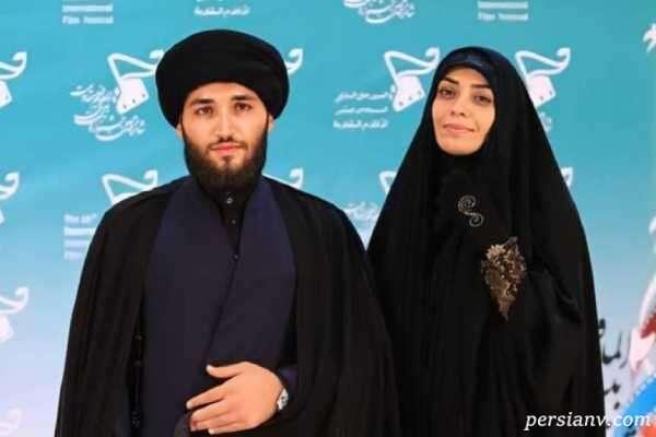 تصویر جدید الهام چرخنده و همسرش سید محمد درویشی در کربلا