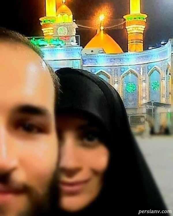 تصویر جدید الهام چرخنده و همسرش