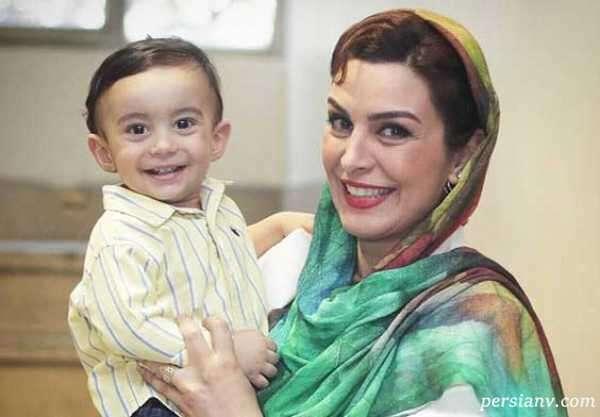 ابراهیم اشرفی همسر ماه چهره خلیلی تصاویر جدید پسرش را منتشر کرد