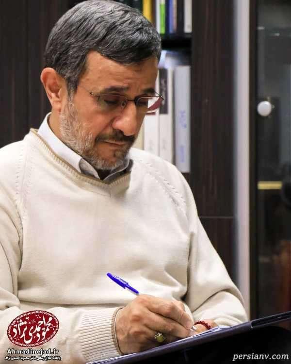 عکس احمدی نژاد و همسرش