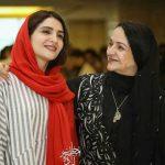 عکس نورا هاشمی دختر گلاب آدنیه و پسرش اوستا در صحنه تئاتر