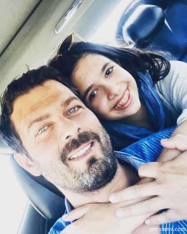 پژمان بازغی و دخترش بازیگر نقش وحید در سریال افرا