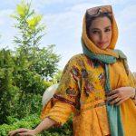 مدل لباس خاص سپیده خداوردی بازیگر کلبه عموپورنگ با آستین گوره خری