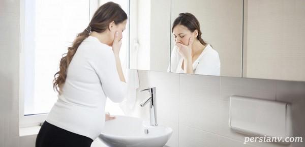 روش هایی برای درمان حالت تهوع در دوران بارداری!