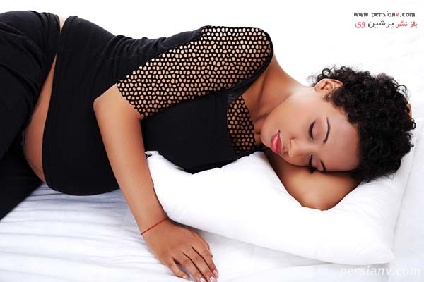 بهترین حالت خوابیدن در بارداری