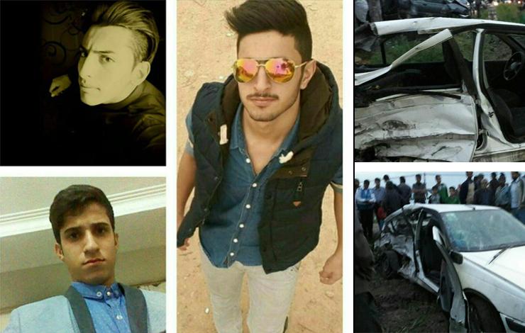 این ۳ پسر جوان در تصادف جادهای جان باختند + عکس