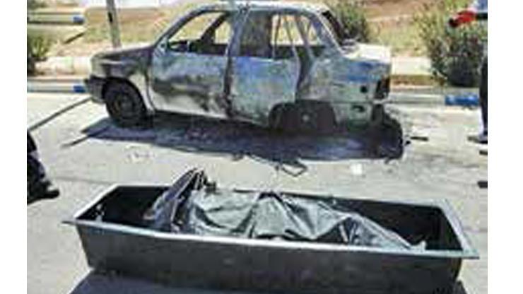 مردی همسرش را زنده زنده در کنار جاده خرم آباد به آتش کشید +عکس