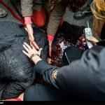 روایتهایی از تصادفخونین دخترجوان مقابل بیمارستانی در تهران/آمبولانس دیر رسید یا بیمارستان پذیرشنکرد؟+تصاویر +۱۸