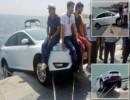 سلفی وحشتناک در آستانه سقوط خودرو به دریای ترکیه + تصاویر