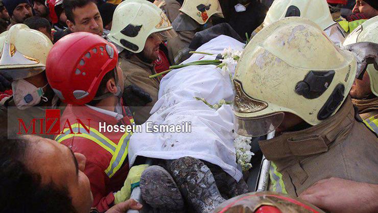 بغض در پلاسکو | نهمین پیکر شهید آتش نشان پیدا شد +تصاویر