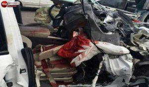 تصادف برای شرکت در مجلس ختم   دختر جوان زیر خودروی سمند له شدند